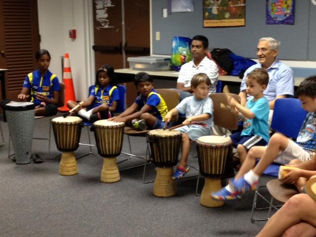 kids drumming, drum circle, adults drum, davie, cooper city, library