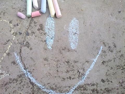 chalk happy face